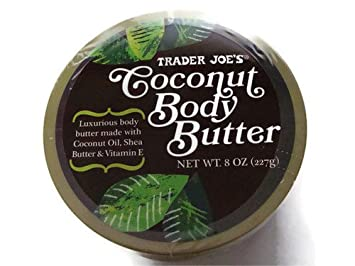 Trader Joe s Coconut Body Butter made with Coconut Oil, Shea Butter Vitamin E in 8 oz. Cruelty Free Pack of 5