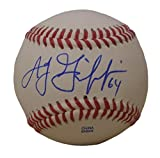 Texas Rangers A.J. Griffin Autographed Hand Signed Baseball with Proof Photo of Signing and COA, Oakland Athletics, A's, AJ