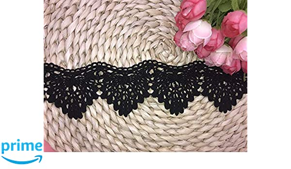 5.5CM Width Europe Firework Pattern Inelastic Embroidery Lace Trim,Curtain Tablecloth Slipcover Bridal DIY Clothing//Accessories. 4 Yards in one Package Navy Blue
