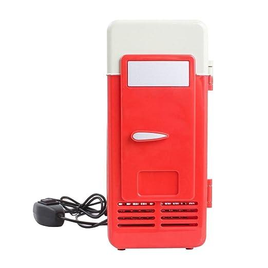Seasaleshop Coche 5 V Universal Mini USB Nevera frigorífico LED ...