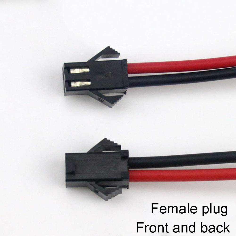 10 pares de cables de conector macho hembra de 2 pines para tira de luces LED JST SM