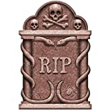 Creepy Cemetery Halloween Party Spooky Snakes and Skull Tombstone Decoration, Foam, 22""
