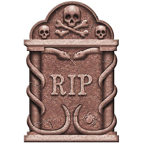 Creepy Cemetery Halloween Party Spooky Snakes and Skull Tombstone Decoration, Foam, -