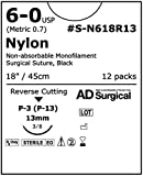 Unify Surgical Nylon Sutures. #S-N618R13