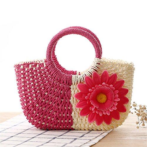 di Dunland Magenta paglia Pochette Piccolo borsa Naturale Borsa borsa ragazze mano Sun fiore donna a da nH8f1rwTqH
