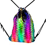Cheap Mermaid Sequin,Gym Sack Bag Drawstring Backpack Sport Bag for Men & Women School Travel Backpack Multicolor1