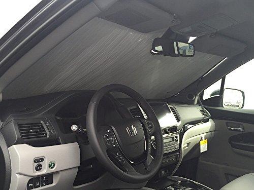 (The Original Windshield Sun Shade, Custom-Fit for Honda Pilot SUV w/Sensor 2016, 2017, 2018, 2019, Silver Series)