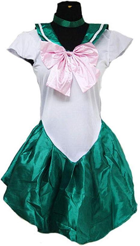 Baipin Disfraz De Sailor Moon Anime Cosplay, Verde Vestido y ...