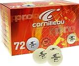 CORNILLEAU Box of 72 Progress 40mm White Table Tennis Balls , White by Cornilleau