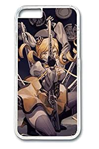 Anime Cool Girl 3 Cute Hard Cover For iPhone 6 Plus Case ( 5.5 inch ) PC Transparent Cases