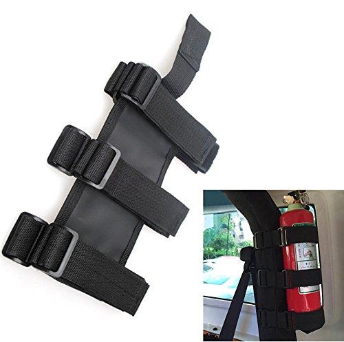 Bentolin Fire Extinguisher Holder, ATV/UTV Interior Roll Bar Trim Kit for Jeep (Black)