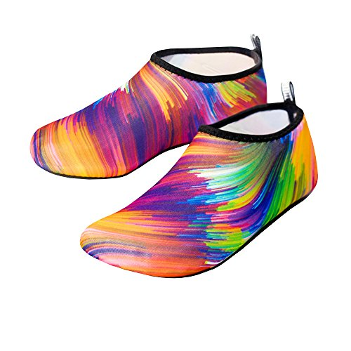 Womens and Mens Water Shoes Aqua Socks Barefoot Quick-Dry for Yoga Beach Swim Surf from GAMISOTE
