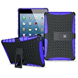 KAYSCASE ArmorBox Heavy Duty Protection Cover Case with Stand for iPad Mini (Purple)