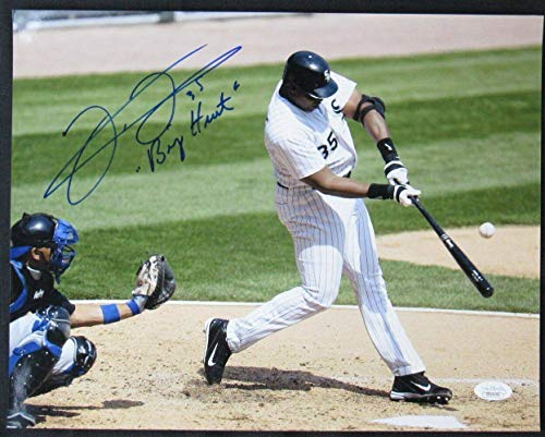 Frank Thomas Autographed Photo - 11x14 w Big Hurt DD143 - JSA Certified - Autographed MLB Photos