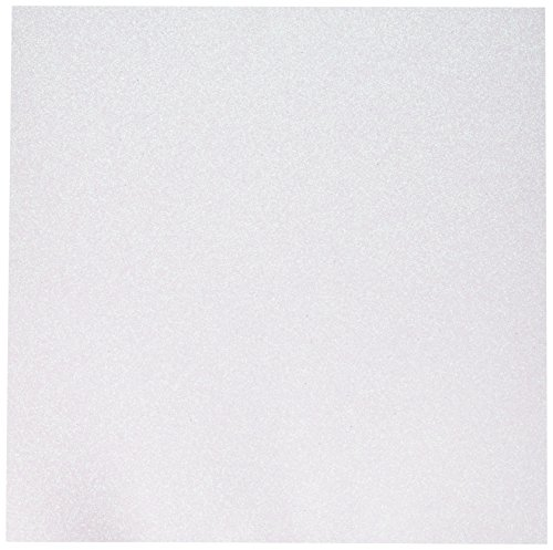 (American Crafts Glitter Cardstock, 12 by 12-Inch, White (15 sheets per pack))