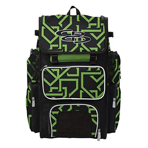 Boombah Superpack Bat Pack Ink Grand Slam Black/Lime Green