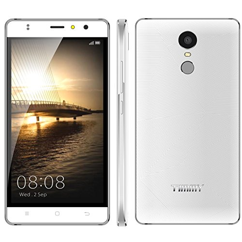 Timmy M20 8GB ROM 5.5 Inch Android 6.0 Marshmallow Unlocked Smartphone 1GB RAM Support Fingerprint GSM WCDMA 720/1280 Pixels (White)