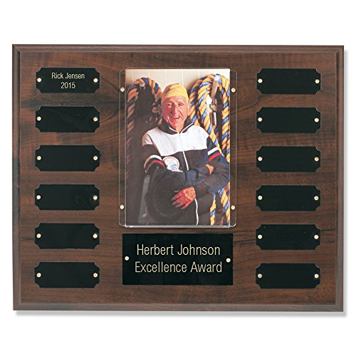 Perpetual Plaque Multi Plate Image Picture Award Cherry Finish - 4