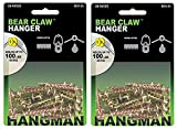 Hangman Double-Headed Bear Claw Hangers – 4-in-1 Hooks for D-Rings, Wire, Sawtooths & Keyholes: BCK-25 (2-(Pack))