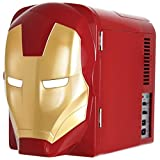 Marvel Ironman Mini Fridge, Red/Gold, 4 L