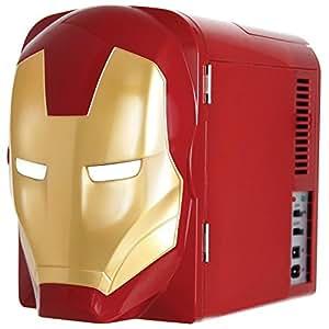 Marvel Ironman Mini Fridge, Red/Gold, 4 L