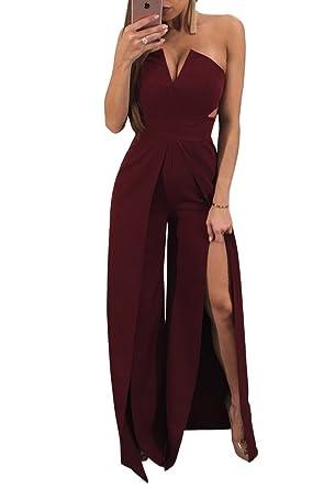 Amazon Imily Bela Womens Strapless Cocktail Dress Wide Leg High