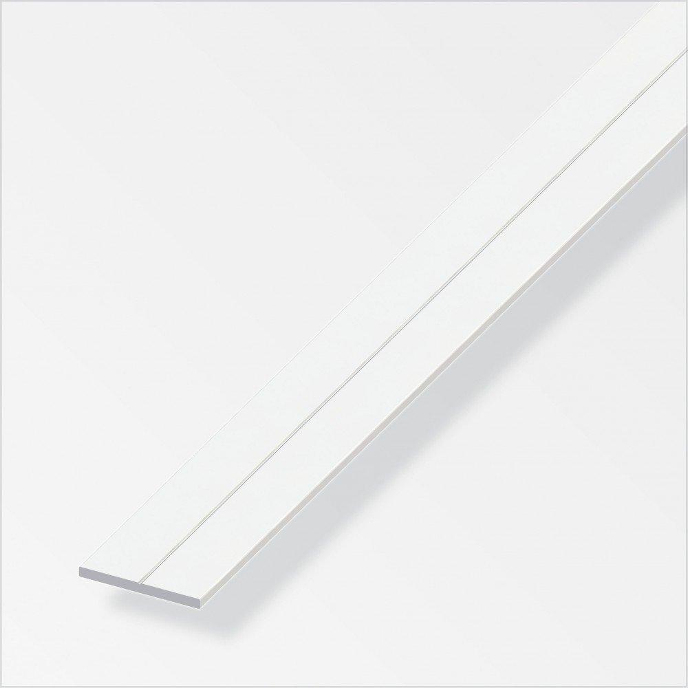 Flachstange 15, 5x2mm 1m mit Bohr-Kennrille PVC weiss Alfer Aluminium