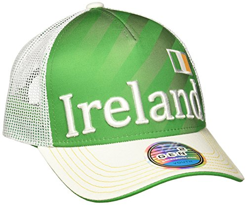 Outerstuff World Cup Soccer Ireland Boys Jersey Hook Flag Snapback Cap, Green, One Size