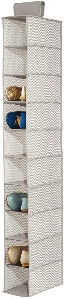 Perfecto organizador armarios que puede utilizarse como zapatero mDesign Estante de tela para toallas y dem/ás accesorios Color: topo//natural