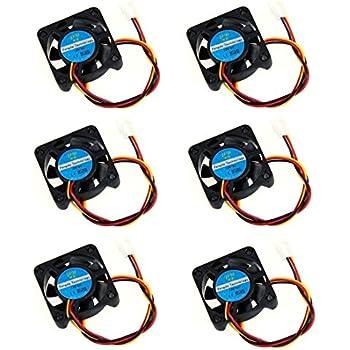 Antrader 12V Brushless DC Cooling Fan for DIY 3D Printer Extruder Humidifier Pack of 6
