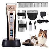 Dog Grooming Clippers Low Noise Rechargeable Cordless Dog Clippers Professional Pet Grooming Clippers