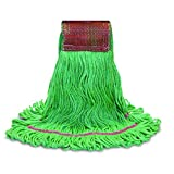 O'Cedar Commercial 97494 MaxiClean Shrinkless Loop-End Mop, X-Large, Green (Pack of 12)