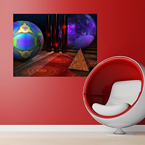 My Wonderful Walls Merlin's Playground Futuristic Wall Sticker Decal Art by Lyle Hatch, Medium, Multicolored