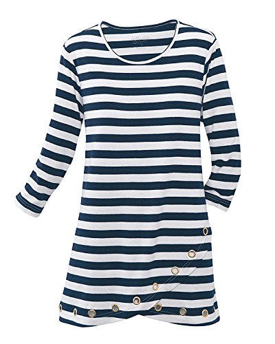 National UltraSofts Striped Grommet Tunic product image