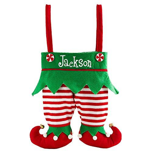 Elf Pants Stocking - Red/White Stripe - Measures -