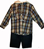 Calvin Klein Boy's 2 Piece Hooded Shirt & Jeans Outfit