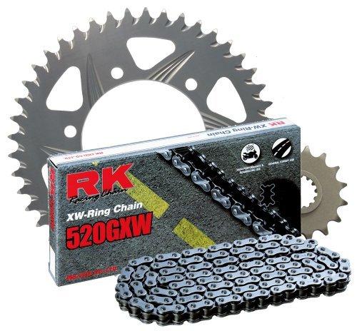 RK Racing Chain 3108-038R Silver Aluminum Rear Sprocket and 520GXW Chain 520 Race Conversion Kit [並行輸入品]   B07PG6XQHH