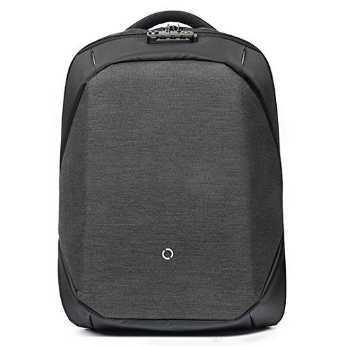 Mochila ClickPack Diseño de Korin, mochilas para portátil de negocios Bolso de viaje anti ladrón se adapta hasta 15,4 pulgadas Macbook (versión completa, negro) versión completa, negro