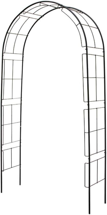 XLOO Arco de Metal para jardín, Cenador de pérgola de Metal, Tubo de Acero Redondo y Grueso, para Varias Plantas trepadoras Arco de jardín de Bodas Decoración de Fiesta Nupcial Cenador Ancho,