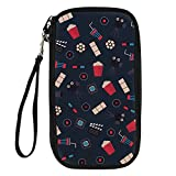 Bigcardesigns Passport Holder Travel Multi-function Wallet Polyester Cute Print
