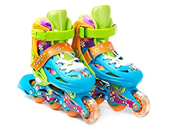 Titan Flower Princess Girls Inline Skates with LED Light-up Front Wheel and LED Laces Multiple Size and Color Options