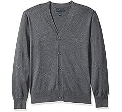 aa56726003f Amazon Brand - BUTTONED DOWN Men's Supima Cotton Lightweight Cardigan  Sweater