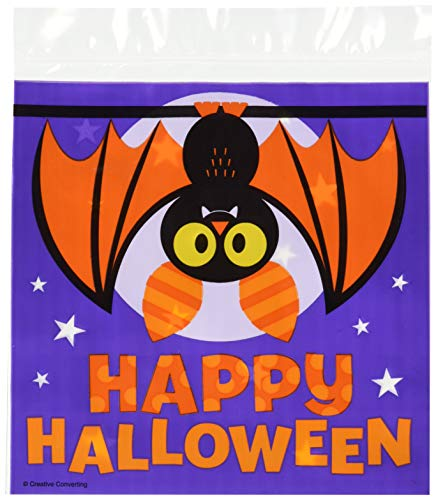 Creative Converting Halloween Bat Sandwich Bag Party Supplies, Multicolor