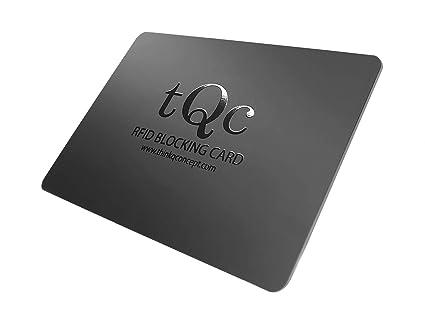 nuovi arrivi alta moda acquista online Nero Carta di blocco RFID, thinkQ concept®; Protezione attiva ...