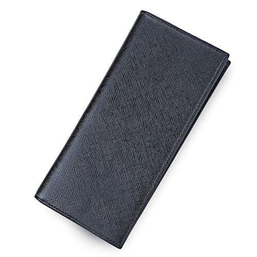 Pour portefeuille Unie À Photo Noir Doux Mince Cartes Et Xxiazhi Couleur Verticales Hommes Avec Long 7BTqSBwfx