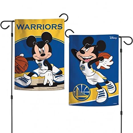 Wincraft Golden State Warriors Mickey Mouse Bandera de jardín NBA ...