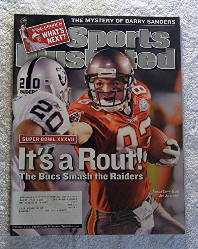 Joe Jurevicius - Tampa Bay Buccaneers - Super Bowl XXXVII Champions! - The Pirate Bowl - Sports Illustrated - February 3, 2003 - Oakland Raiders - SI