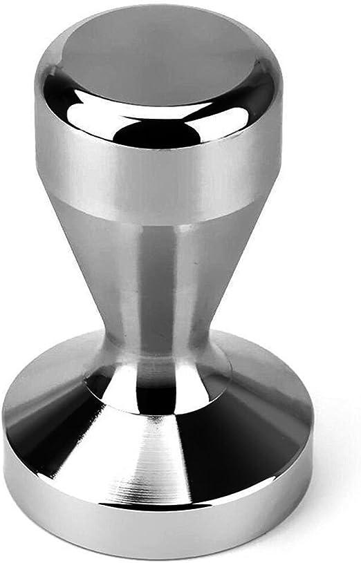 Acero Inoxidable de 58 mm de Caf/é de Sabotaje de la Base Plana del Grano de Caf/é Press Espresso Tamper