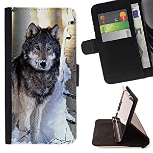 - Wolf Heart Face Funny - - Style PU Leather Case Wallet Flip Stand Flap Closure Cover FOR LG Nexus 5 D820 D821 - Devil Case -