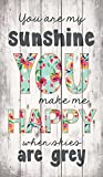 You are my Sunshine When Skies are Grey Distressed 24 x 14 Wood Pallet Wall Art Sign Plaque